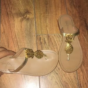Lilly Pulitzer Pineapple Sandals